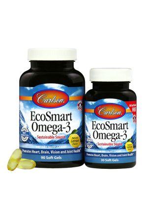 聰明魚油Omega-3 EcoSmart Omega-3 (買大送小 90+30 Soft Gels)