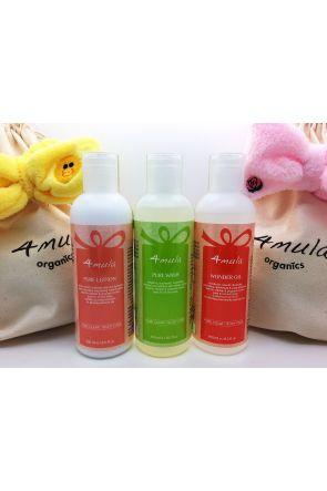 舒護系列三瓶組 Pure Set【送可愛洗髮帶和環保萬用布袋】